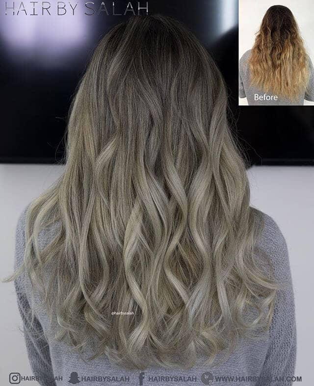 Couches blondes de longueur moyenne