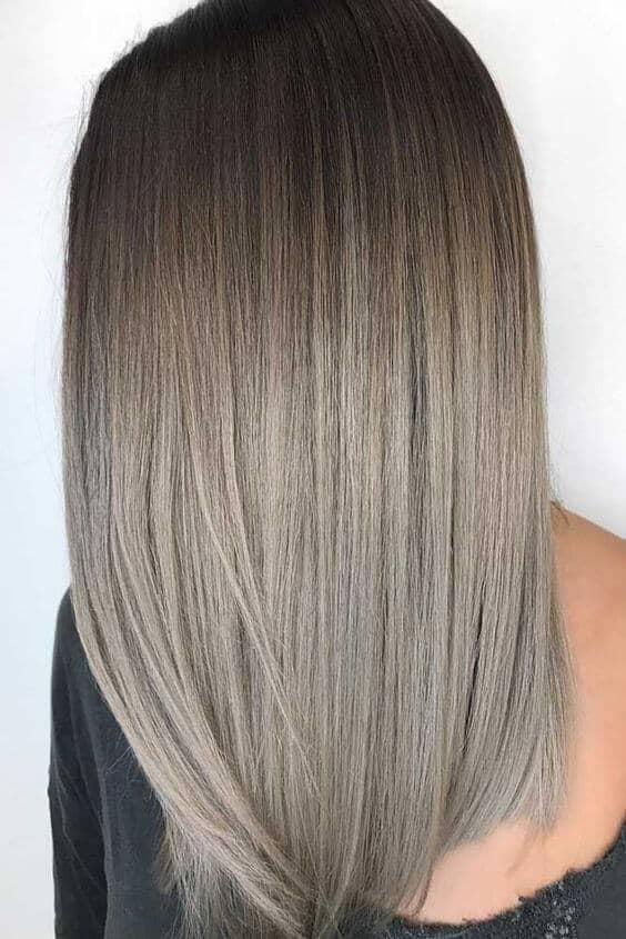 Cheveux longs, cendrés et blonds foncés
