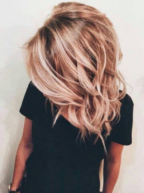 Lob tendance Icy Fraise Blonde