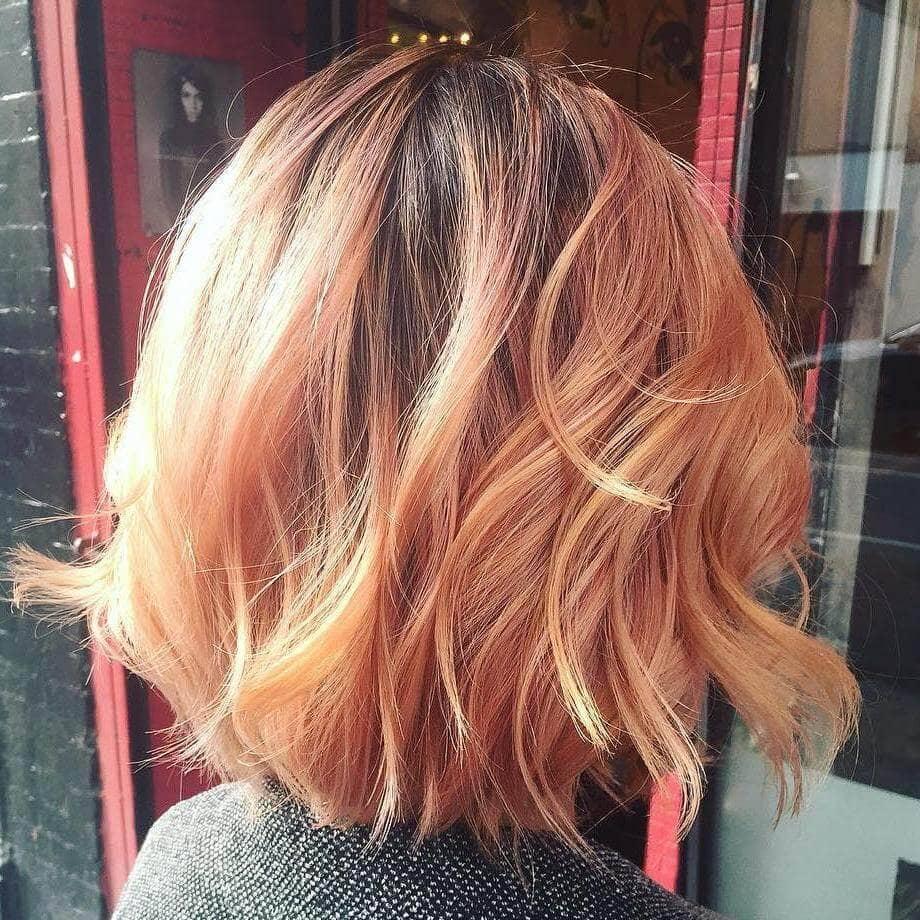 Un magnifique blond fraise multicolore