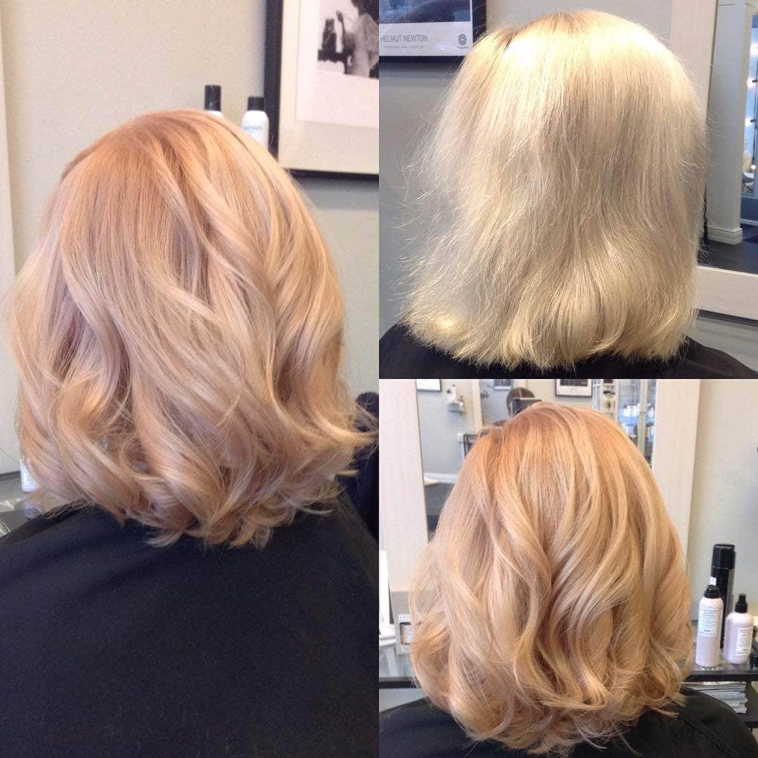 Couleur des cheveux rose pastel sorbet