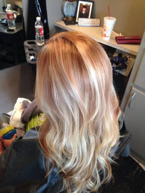 Blonde fraise platine parfaite