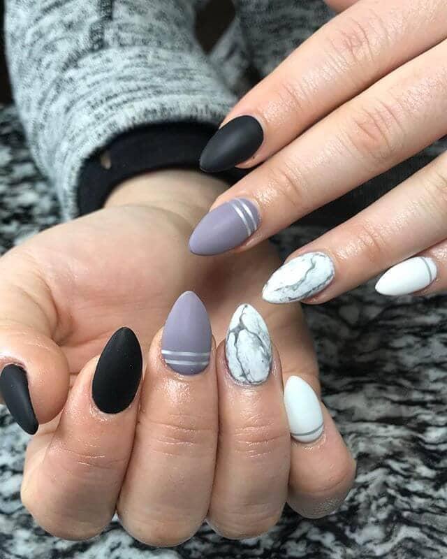 Art des ongles de l'Ombre blanche à l'Ombre noire