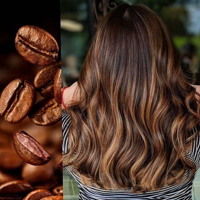 Coiffure pour femmes avec une couleur inspirée du café