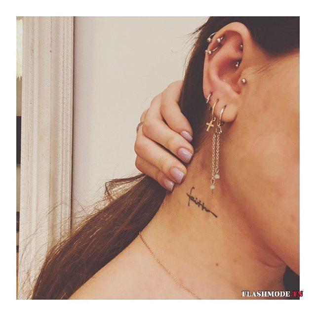 modele tragus piercing