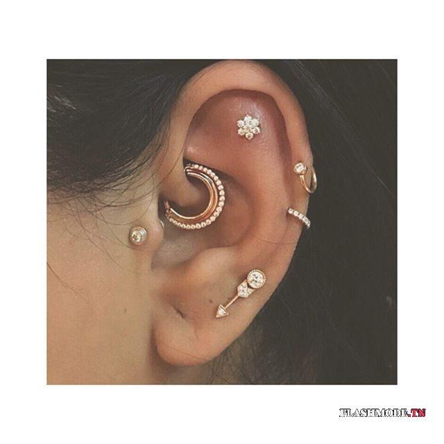 piercing helix pour femme tendance