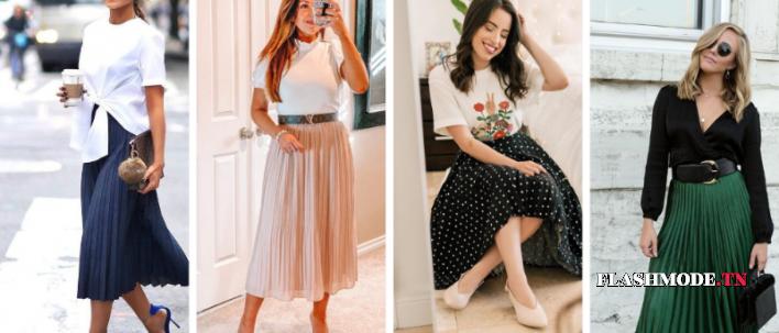 Look : Comment porter la jupe plissée en 2020 ? (Photos)
