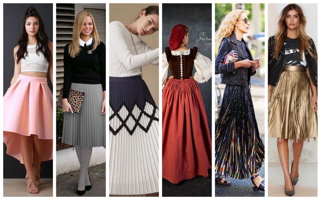 Types des jupes plissées tendances 2020 : Plis de boîte, Plis de couteau,Plis d'accordéon, Plis de cartouche, Les plis Fortuny, Plis métalliques