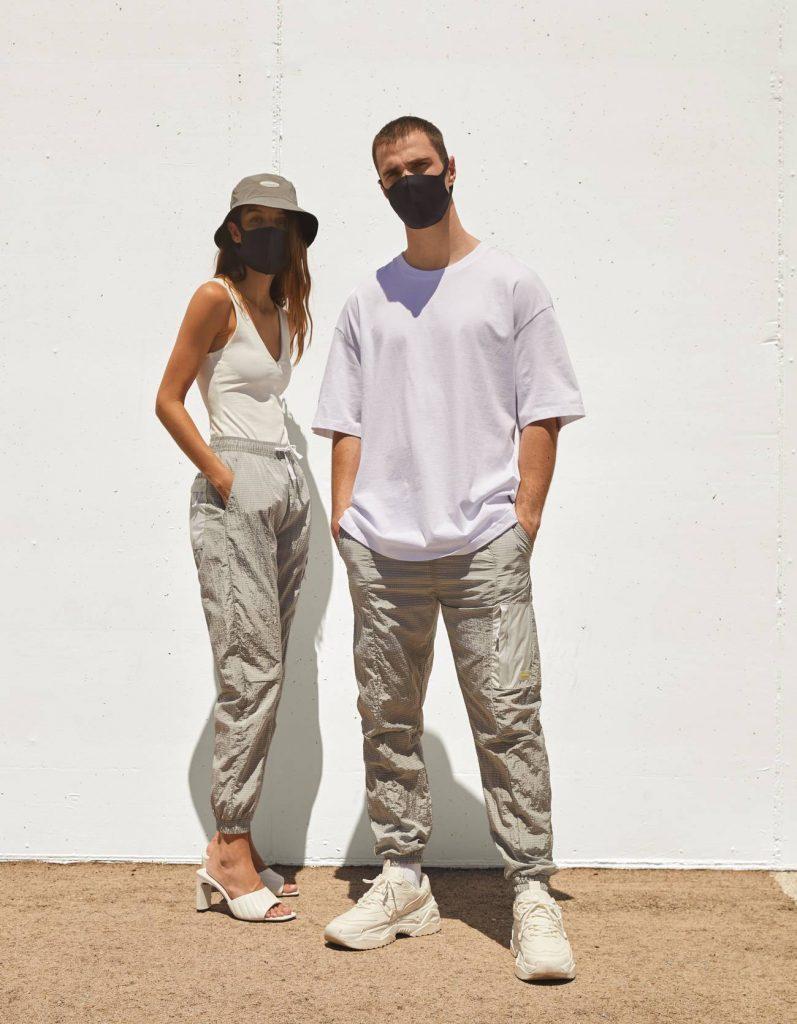 Mode Homme Bershka : Pantalon de jogging avec une poche réfléchissante