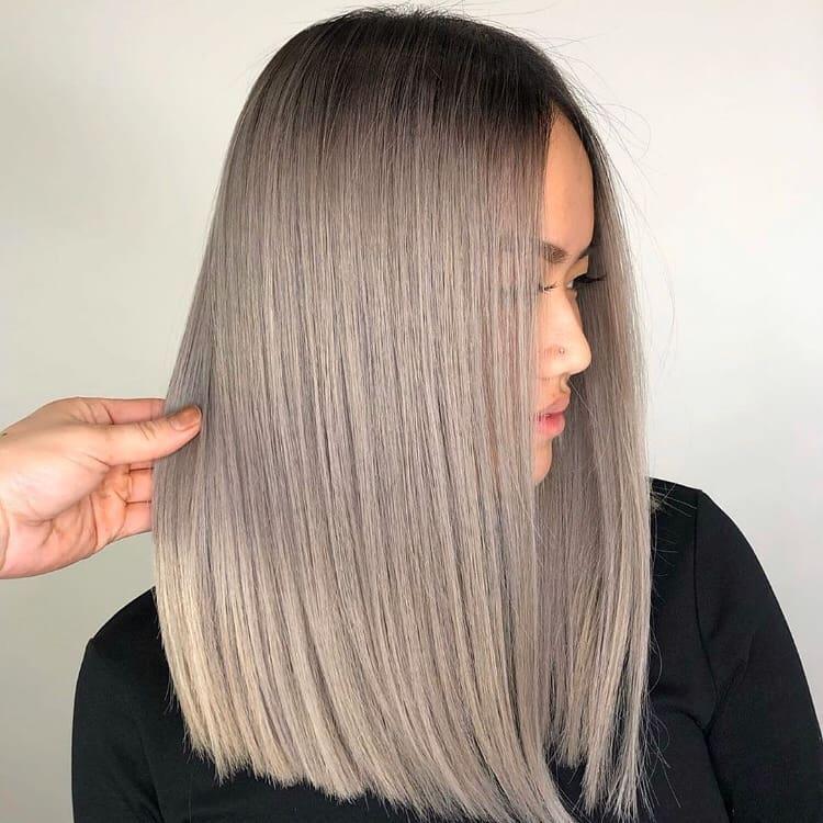 Coloration cheveux Lisse sombre