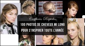 coiffures rpides en photos de cheveux mi Long pour s'inspirer toute l'année