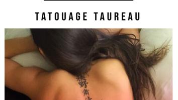 Tatouage Taureau idées inspiration design signification disgne astrologique