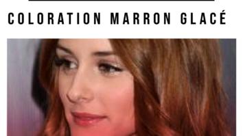 guide coloration cheveux marron glacé