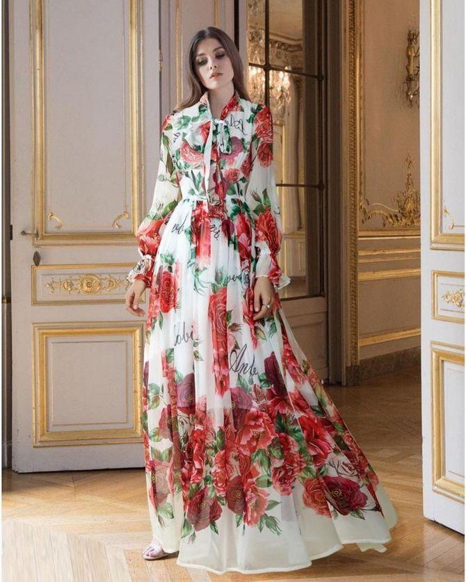 Robes à imprimé floral à la mode pour le printemps 2021 11