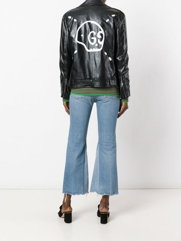 veste motard en cuir noir veste été femme en 2021