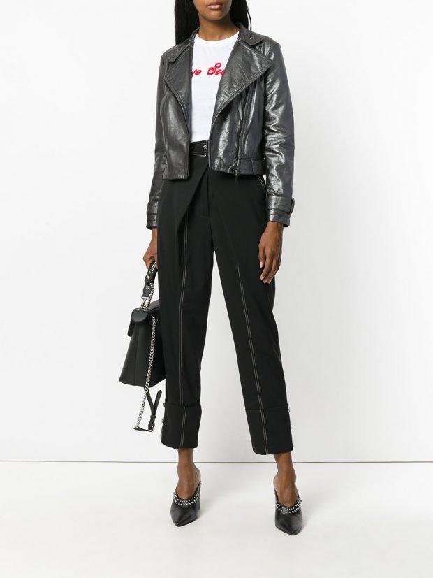 veste motard en cuir coloré veste été femme en 2021