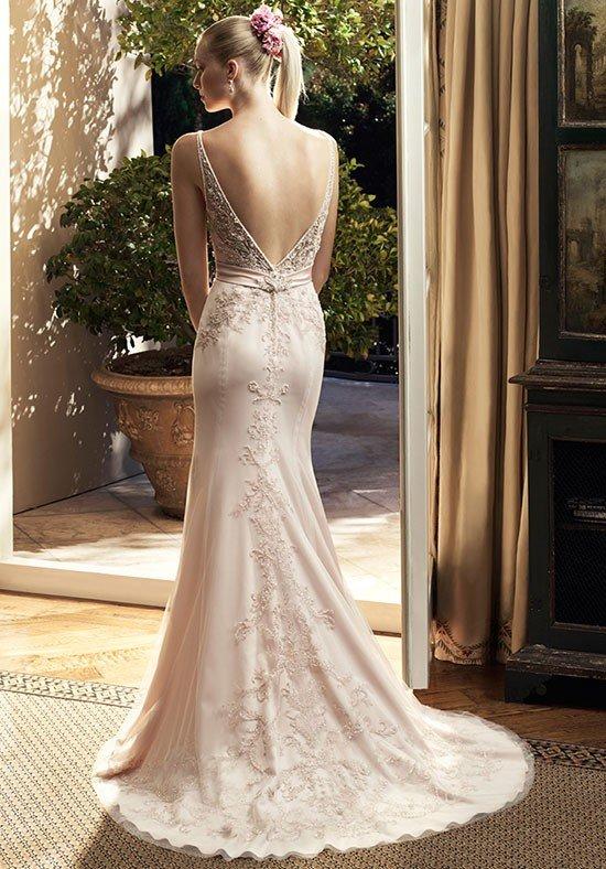 photo de robes de mariée : dos nu beige