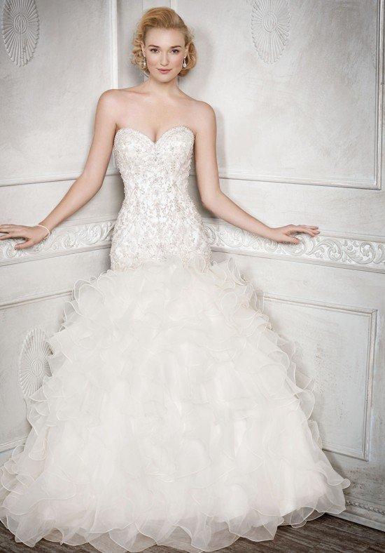 robe de mariée sirène superposée