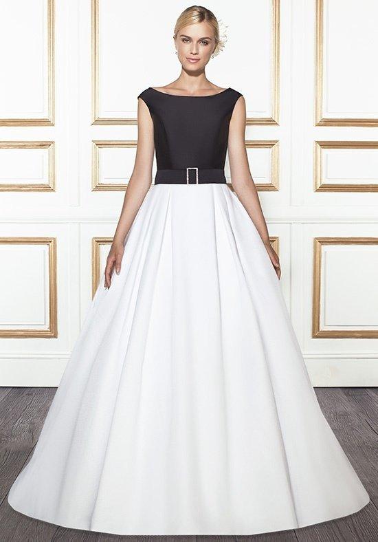 photo de robes de mariée : avec haut de couleur