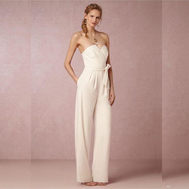 photo de robes de mariée : combinaison avec ceinture