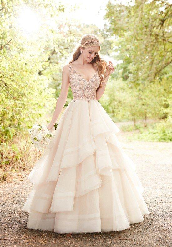 photo de robes de mariée: couleur multicouche