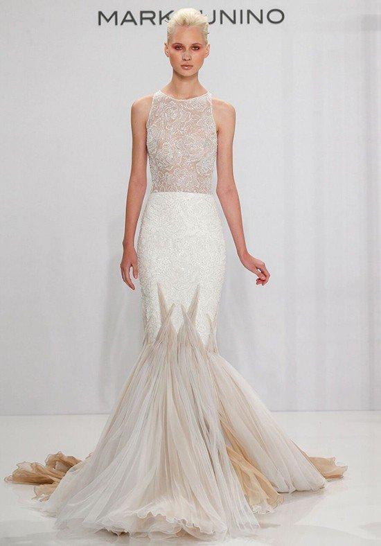robe de mariée sirène deux tons