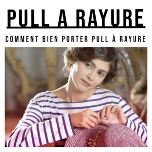 pull a rayure femme