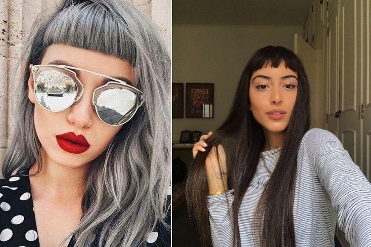 Coupe de cheveux avec une frange courte - Coupes de cheveux pour femmes à la mode pour cheveux longs 2020