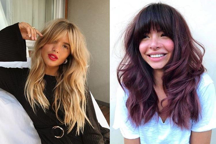 Frange sur les côtés - Coupes de cheveux pour femmes à la mode pour cheveux longs 2020