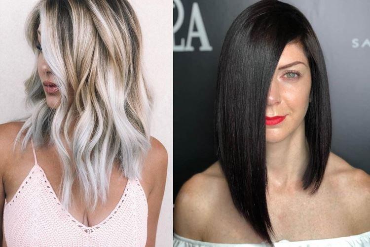 Asymétrie - Coupes de cheveux pour femmes à la mode 2020 pour cheveux longs